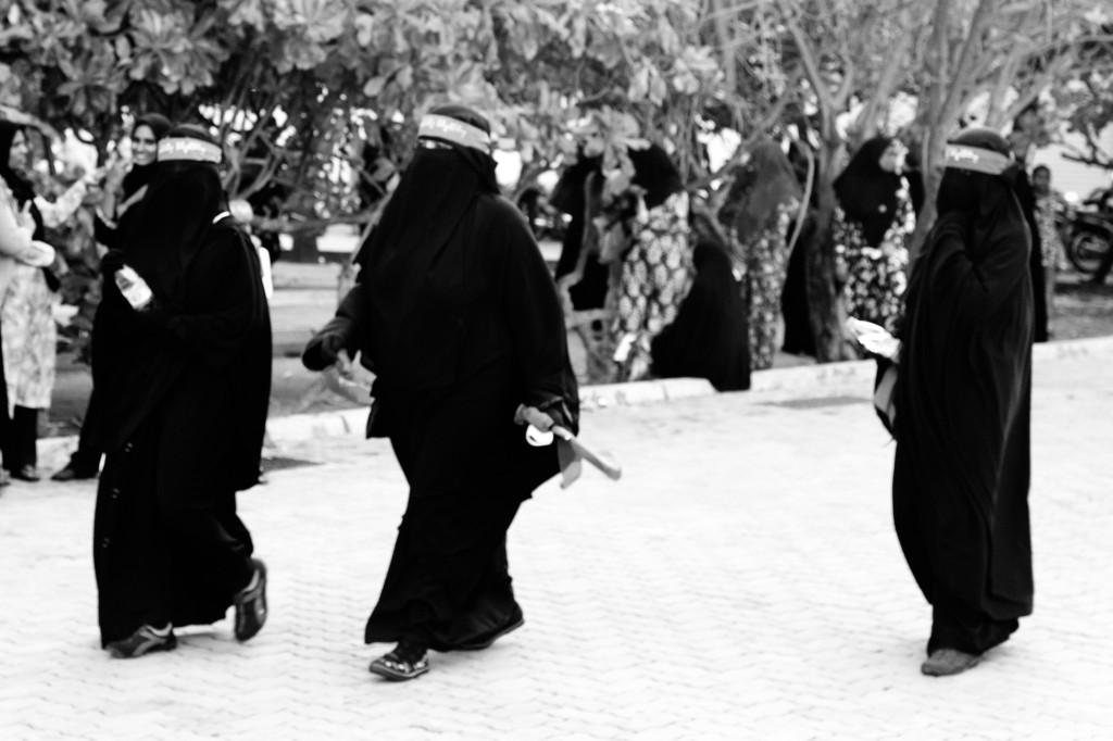 Maldivian women at an Adhaalath-led rally on 23 December 2011. Photo: Aznym